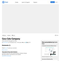 Coca Cola Company by Annie Nam on Prezi