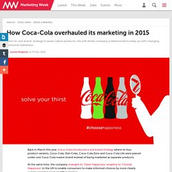 How Coca-Cola overhauled its marketing in 2015