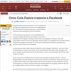 Coca-Cola France s'associe à Facebook