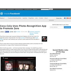 Coca-Cola Uses Photo-Recognition App to Promote Zero - Flock