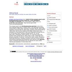 Cienc. Rural [online]. 2004, vol.34, n. Control of the european peach scale Parthenolecanium persicae (Fabricius, 1776) (Hemiptera: Coccidae) in vineyards.