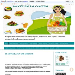 EL CHOCOLATE Y LAS ESPECIAS