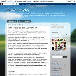 COCINA EN CASA: COMO HACER HOJALDRE RÁPIDO EN CASA