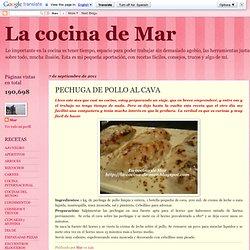 La cocina de Mar: PECHUGA DE POLLO AL CAVA