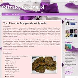¡Míralo, Cocínalo!: Tortillitas de Acelgas de mi Abuela