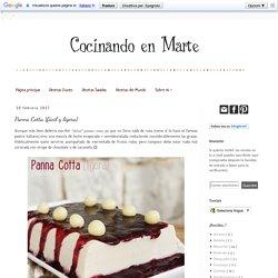 Cocinando en Marte: Panna Cotta {fácil y ligera}