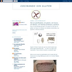 cocinando sin gluten: Pan en panificadora, sin gluten, sin huevo, sin lácteos, con harinas proteicas y psyllium