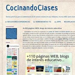 #+100 páginas WEB, blogs de interés educativo