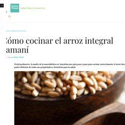 Cómo cocinar el arroz integral yamaní