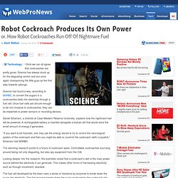 Robot Cockroach Produces Its Own Power