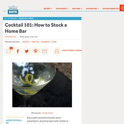 Cocktail 101: How to Stock a Home Bar
