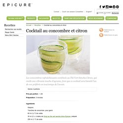 Cocktail au concombre et citron