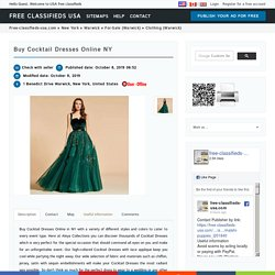 Buy Cocktail Dresses Online NY