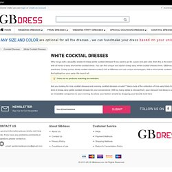 BUY Cheap Short White Cocktail Dresses Online at GBDRESS