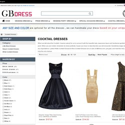 Buy Ladies Petite Cocktail Dresses & Nice Cocktail Dresses For Wedding at gbdress