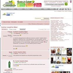 Cocktail Josephine Baker : Un cocktail