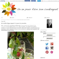 Un cocktail Hugo original à la peau du concombre