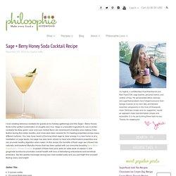 Sage + Berry Honey Soda Cocktail Recipe