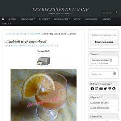 Cocktail rosé sans alcool