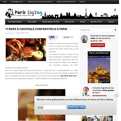 17 bars à cocktails confidentiels à Paris