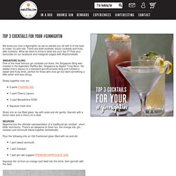 Top 3 cocktails for your #ginnightin - News - Gin Festival