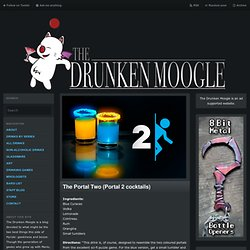 The Portal Two (Portal 2 Cocktails) Ingredients:... | The Drunken Moogle