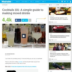 Cocktails 101: A simple guide to making mixed drinks