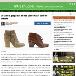 Coclico's gorgeous shoes come with carbon offsets