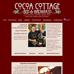 Cocoa Cottage B&B Award Winning Cuisine!