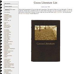 Cocoa Literature