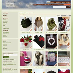 patterns - free patterns - cocoknits by julie weisenberger - StumbleUpon