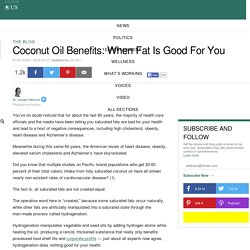 Coconut Oil Benefits: When Fat Is Good For You