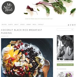 Coconut Black Rice Breakfast Pudding