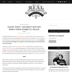 Coconut Butter Bark by Diabetic Paleo