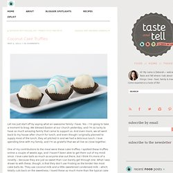Coconut Cake Truffles