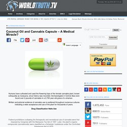 Coconut Oil and Cannabis Capsule – A Medical Miracle?