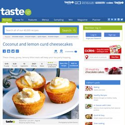 Coconut And Lemon Curd Cheesecakes Recipe