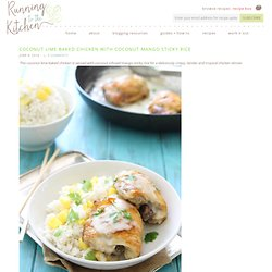Coconut lime baked chicken - Running to the Kitchen
