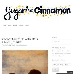 Coconut Muffins with Dark Chocolate Glaze