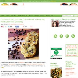 Coconut Flour Chocolate Chip Cookies - Gluten and Dairy Free Recipe - The Lemon Bowl