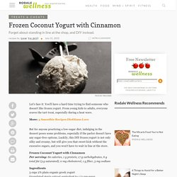 Frozen Coconut Yogurt with Cinnamon