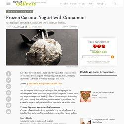 Frozen Coconut Yogurt with Cinnamon