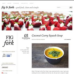 Coconut Curry Squash Soup « fig & fork