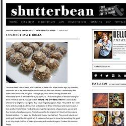 Coconut Date Rolls - Shutterbean