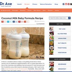 Coconut Milk Baby Formula Recipe