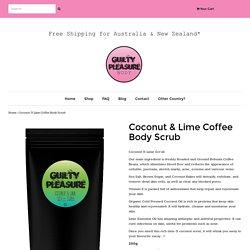 Coconut & Vegan Friendly Body Scrub For Sale Online in Australia