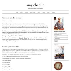 Coconut jam dot cookies - Amy Chaplin