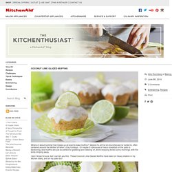 Coconut Lime Glazed Muffins - The Kitchenthusiast