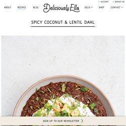 Spicy Coconut & Lentil Dahl - DeliciouslyElla