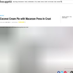 Coconut Cream Pie with Macaroon Press-In Crust Recipe